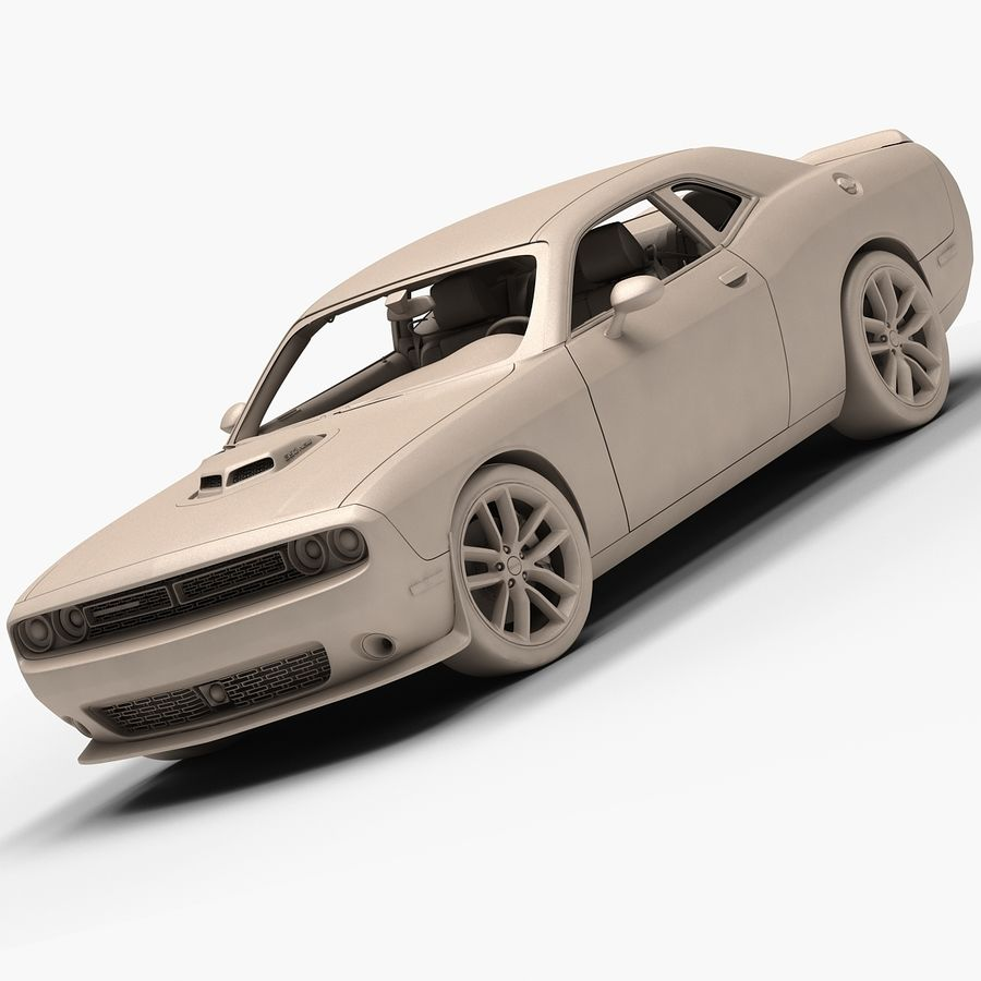 2015 Dodge Challenger 392 HEMI royalty-free 3d model - Preview no. 14