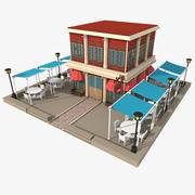 Restaurant buitenkant 3d model