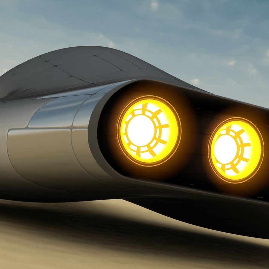 Tomahawk Hover Vehicle royalty-free 3d model - Preview no. 15