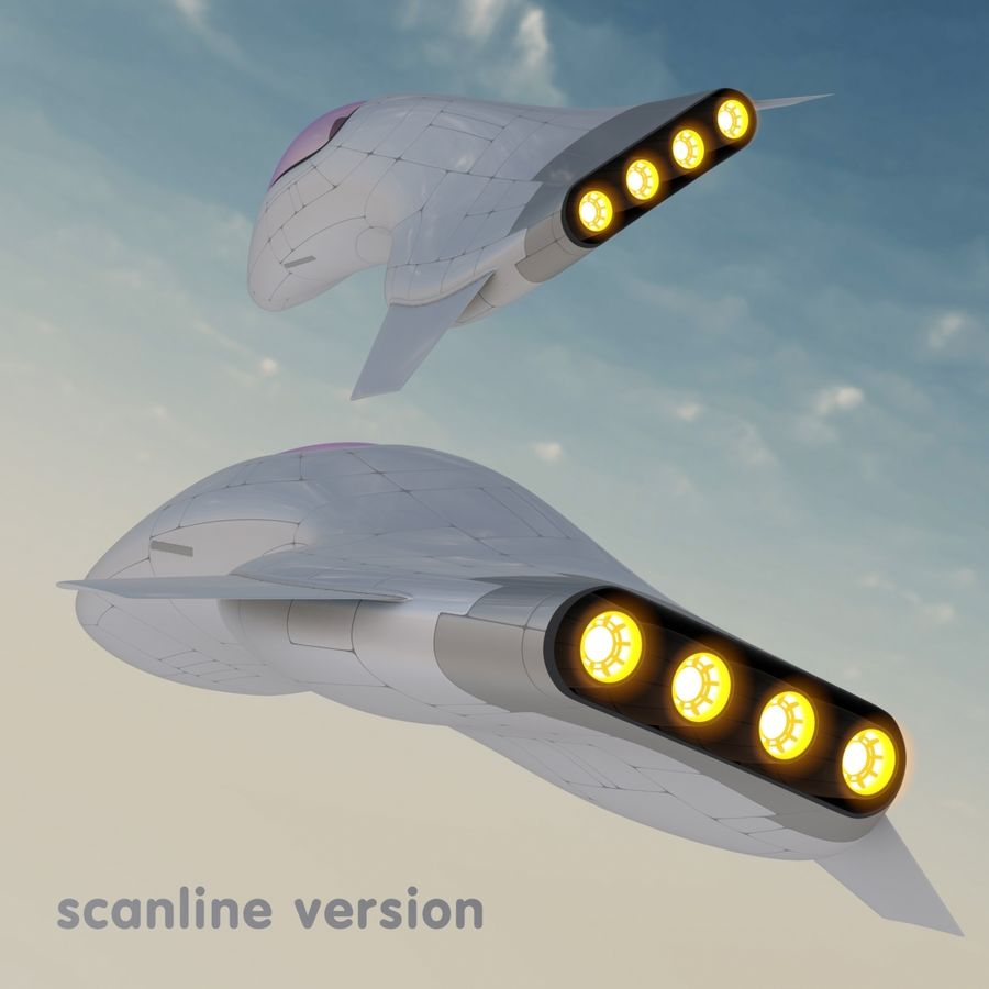 Tomahawk Hover Vehicle royalty-free 3d model - Preview no. 22