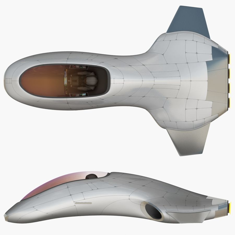 Tomahawk Hover Vehicle royalty-free 3d model - Preview no. 17