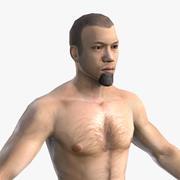 Postać dla MMORPG (azjatyckie męskie ciało) 3d model