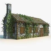 Country Old Decayed Broken House 3d model