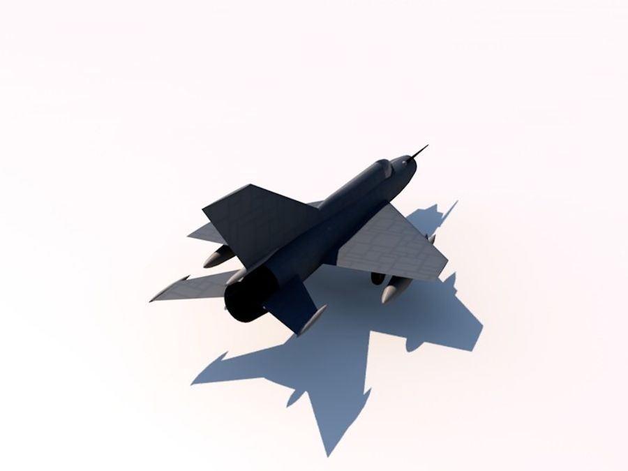 MIG 21 FISHBED royalty-free 3d model - Preview no. 3