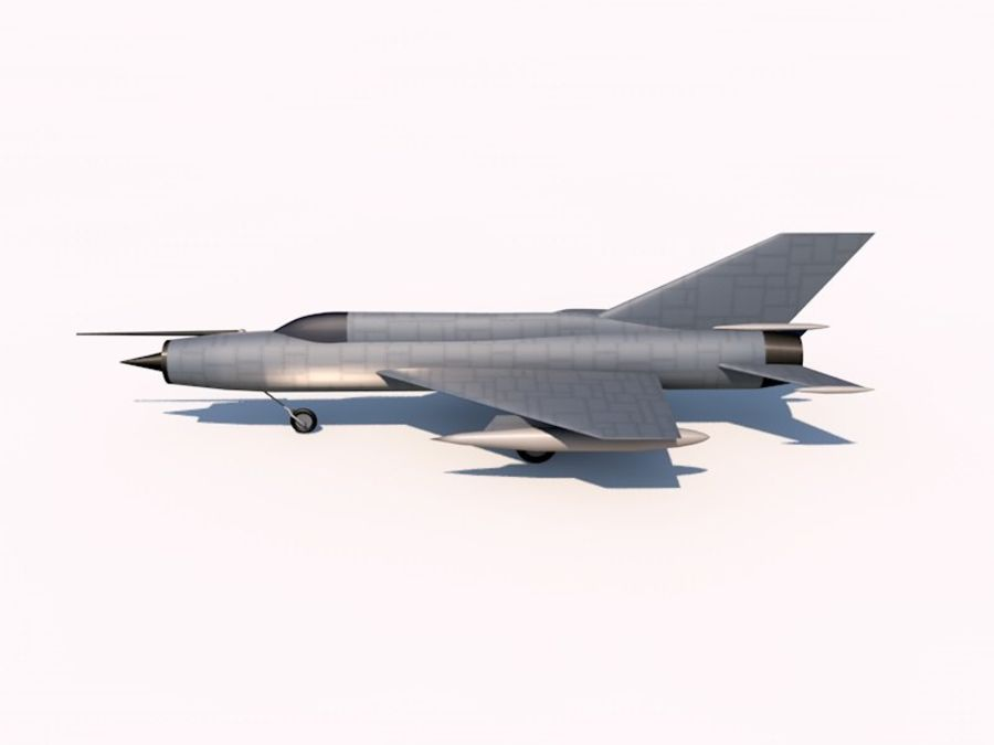 MIG 21 FISHBED royalty-free 3d model - Preview no. 4