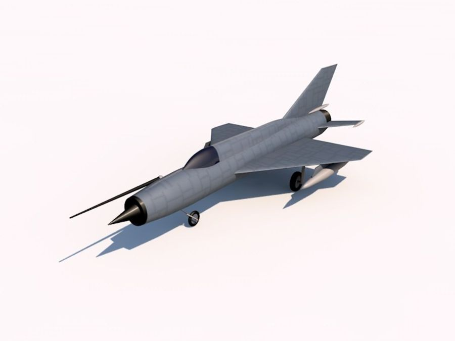 MIG 21 FISHBED royalty-free 3d model - Preview no. 1