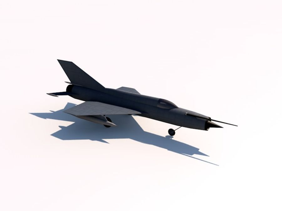 MIG 21 FISHBED royalty-free 3d model - Preview no. 2