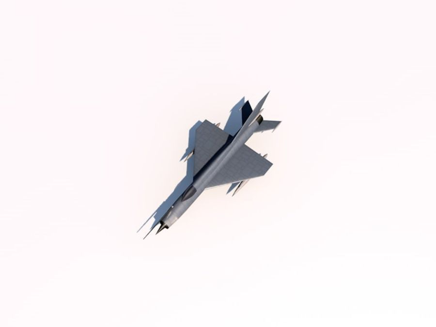 MIG 21 FISHBED royalty-free 3d model - Preview no. 5
