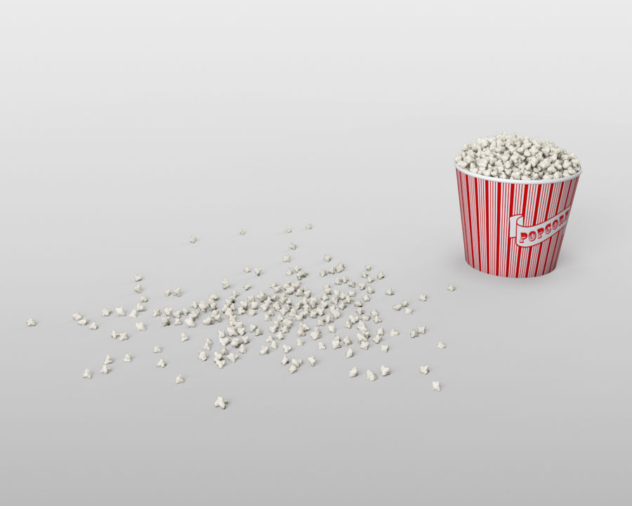 Popcorn Eimer royalty-free 3d model - Preview no. 5