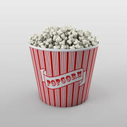 Wiadro popcornu 3d model