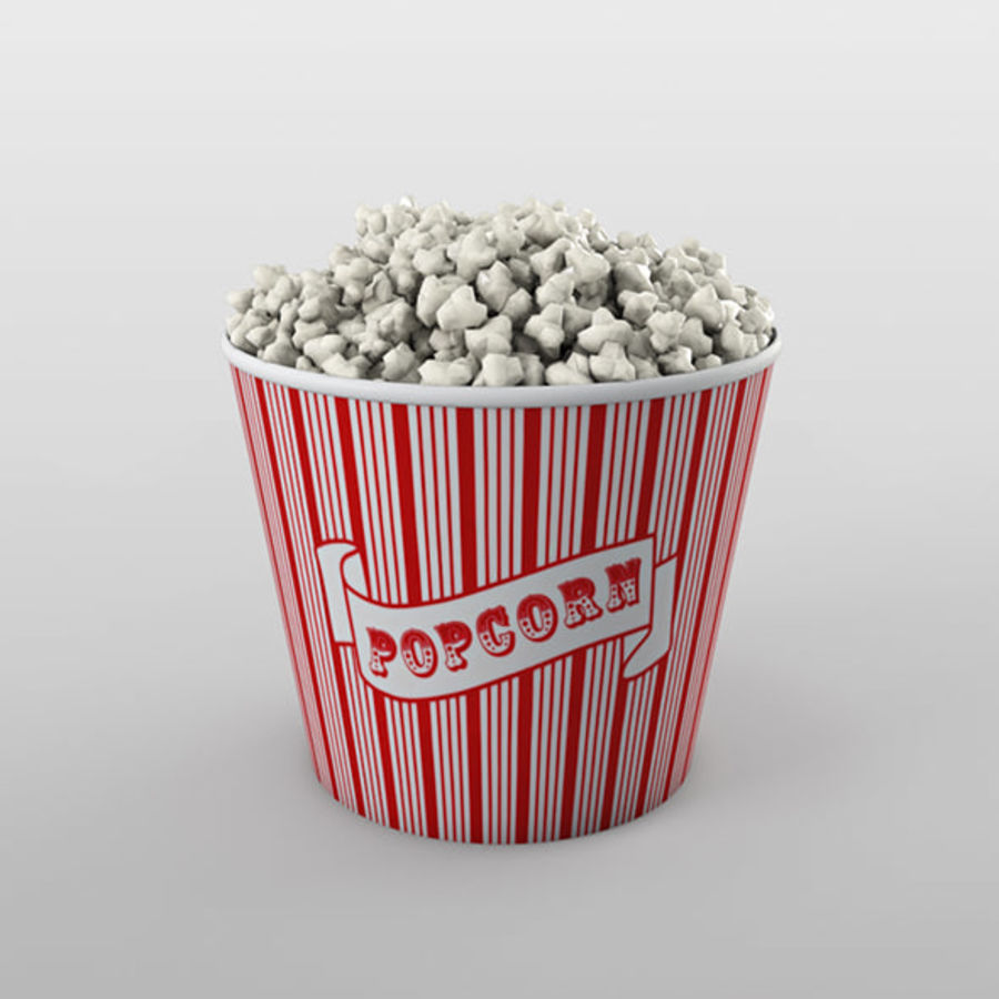 Popcorn Eimer royalty-free 3d model - Preview no. 1