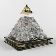 Piramide degli Illuminati 3d model