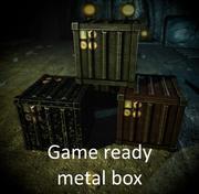 Spielfertige Metallbox 3d model