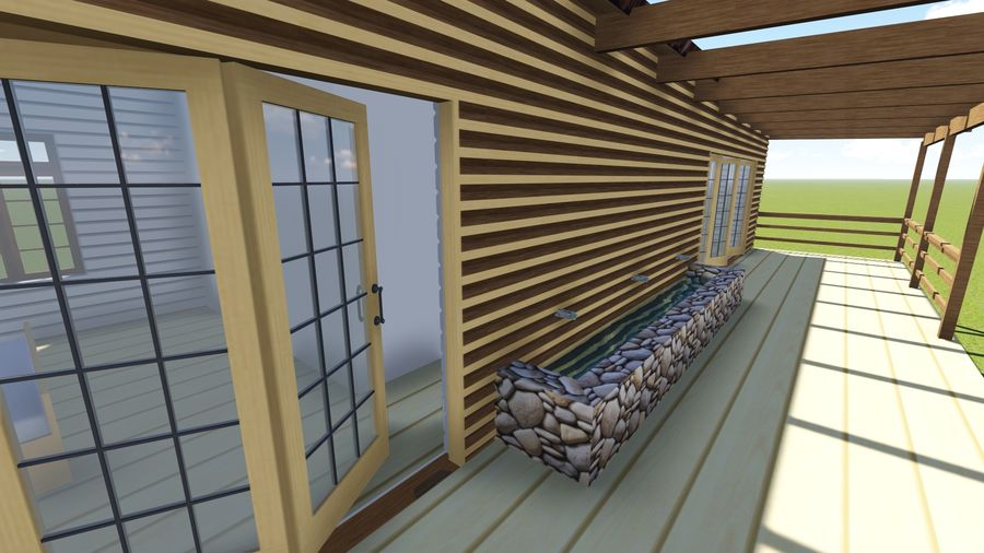 Architecture Cottage House royalty-free 3d model - Preview no. 6