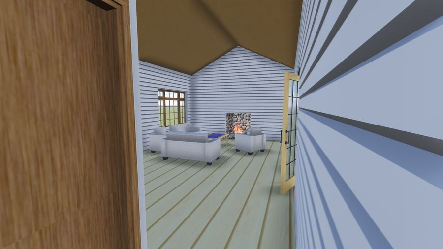 Architecture Cottage House royalty-free 3d model - Preview no. 8