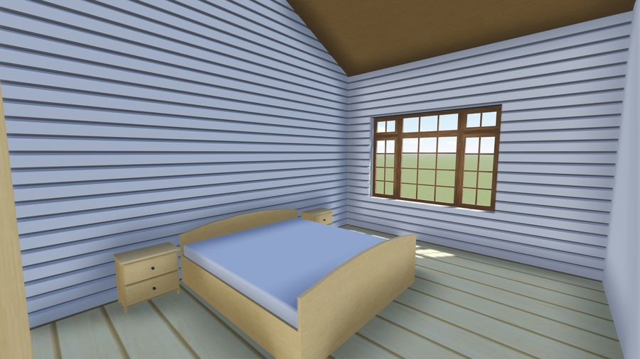 Architecture Cottage House royalty-free 3d model - Preview no. 7