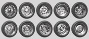 Car Wheels Rims Pack 2 3d model