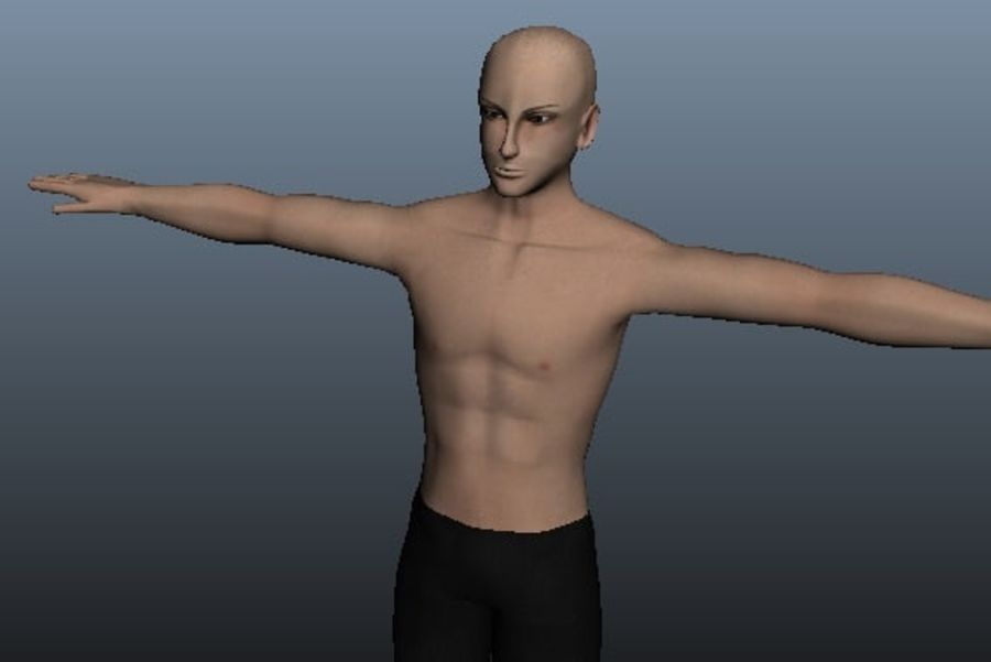 Asian Male 3d model royalty-free 3d model - Preview no. 1