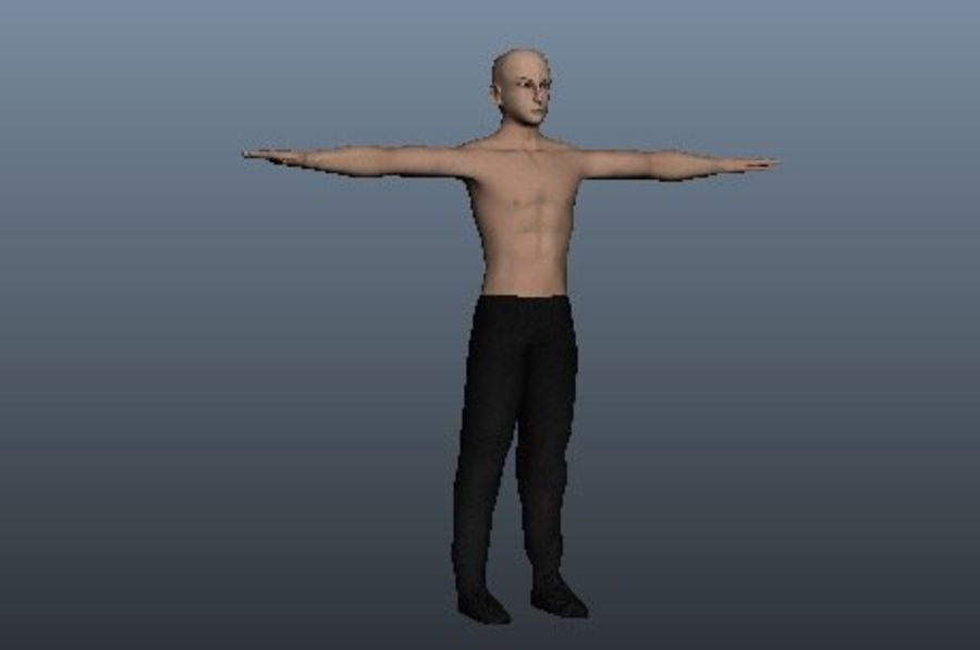 Asian Male 3d model royalty-free 3d model - Preview no. 4