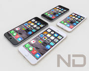 Apple iPhone 6 , iPhone 6 Plus 3d model