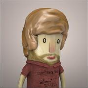 Charakter Hipster - Model 3d model