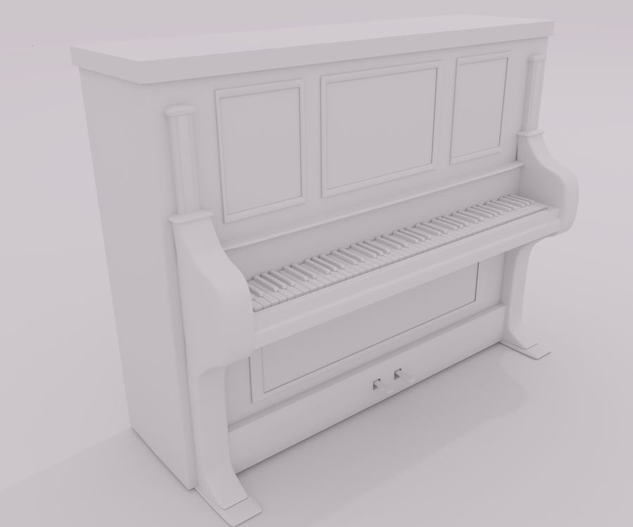 пиано royalty-free 3d model - Preview no. 2