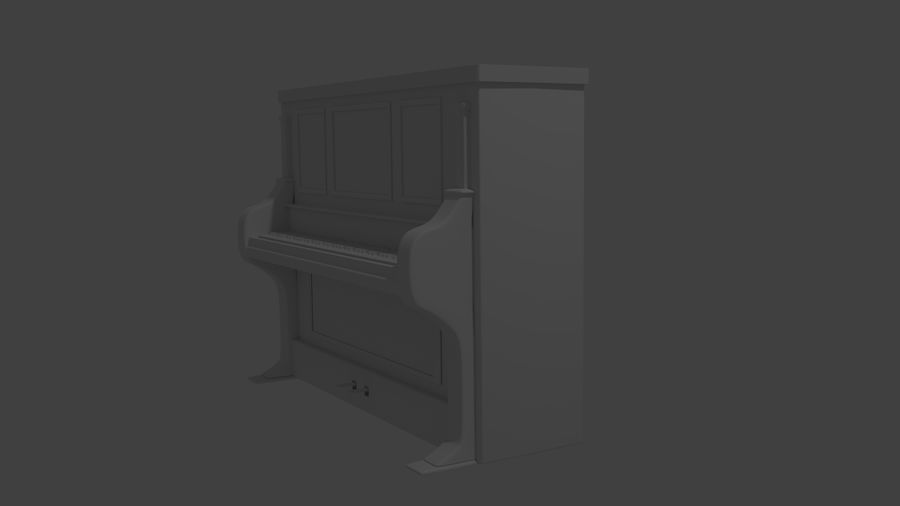 пиано royalty-free 3d model - Preview no. 4