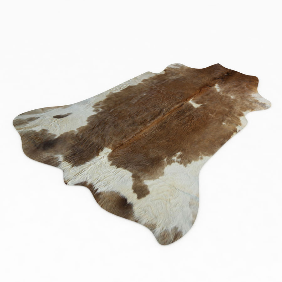 Cowhide Animal skin rug royalty-free 3d model - Preview no. 1