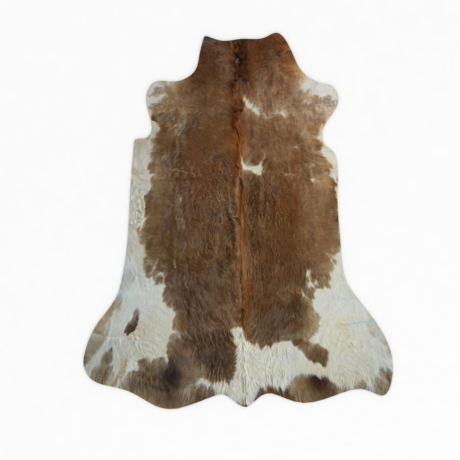 Cowhide Animal skin rug royalty-free 3d model - Preview no. 3
