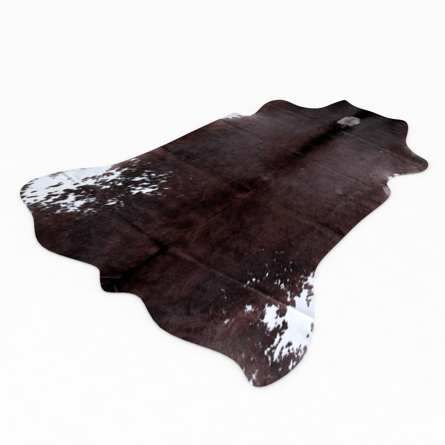 Cowhide Animal skin rug royalty-free 3d model - Preview no. 2