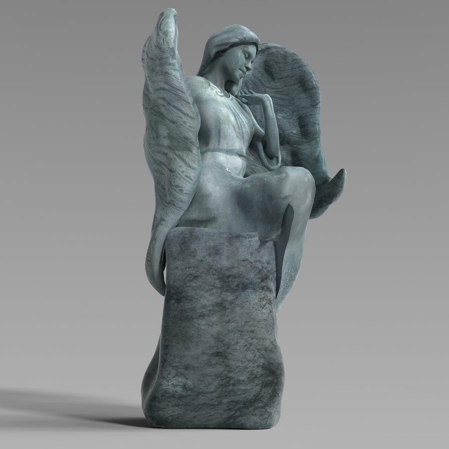 Statua anioła royalty-free 3d model - Preview no. 1