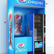 Pepsi kiosk 3d model