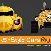 5款车 3d model