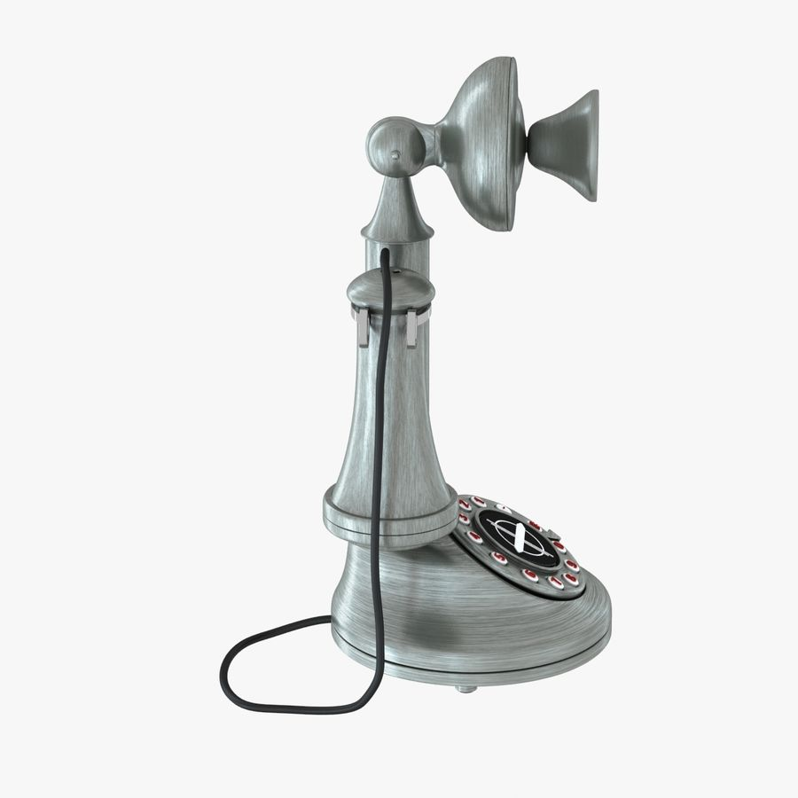 Crosley Old Candlestick Phone royalty-free 3d model - Preview no. 5