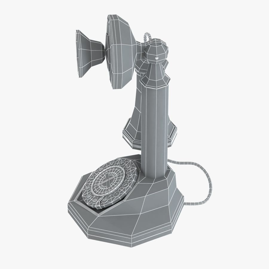 Crosley Old Candlestick Phone royalty-free 3d model - Preview no. 6