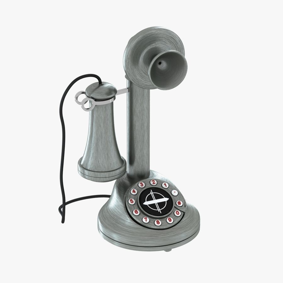 Crosley Old Candlestick Phone royalty-free 3d model - Preview no. 1