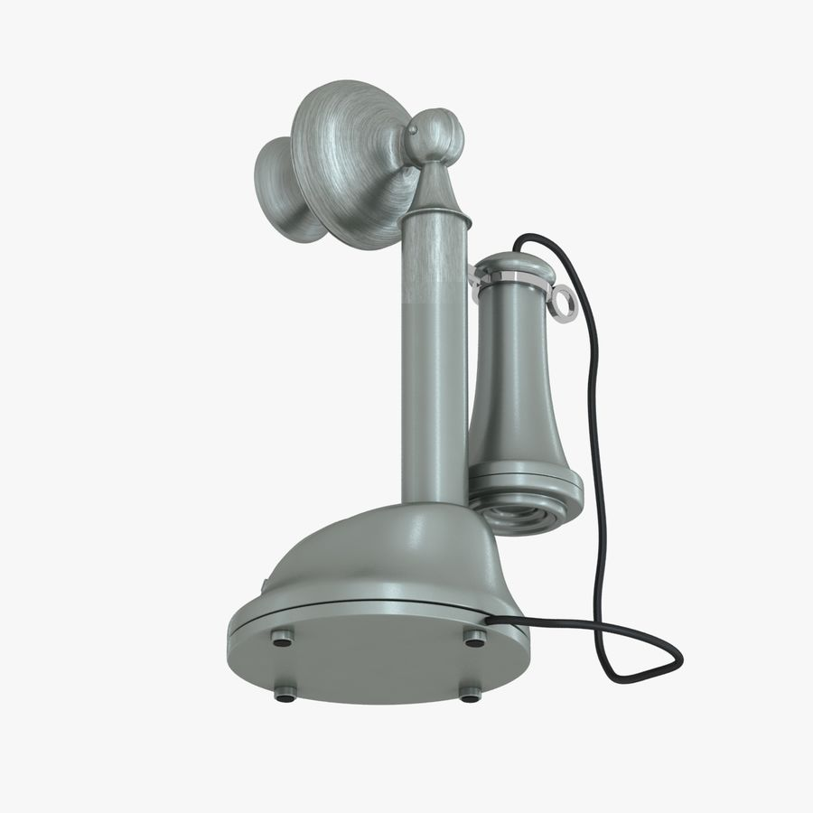 Crosley Old Candlestick Phone royalty-free 3d model - Preview no. 11