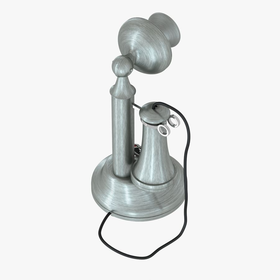 Crosley Old Candlestick Phone royalty-free 3d model - Preview no. 4