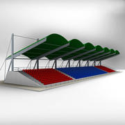Baldacchino Tribune Stadium Seating 3d model