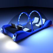 Carro Maglev futurista 3d model