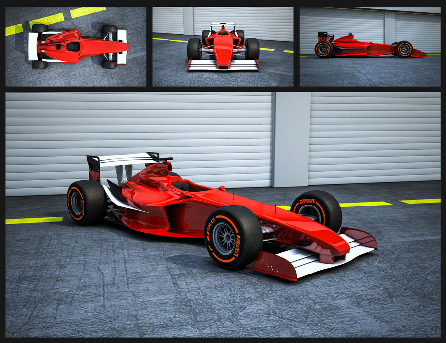 Formel 1 royalty-free 3d model - Preview no. 1