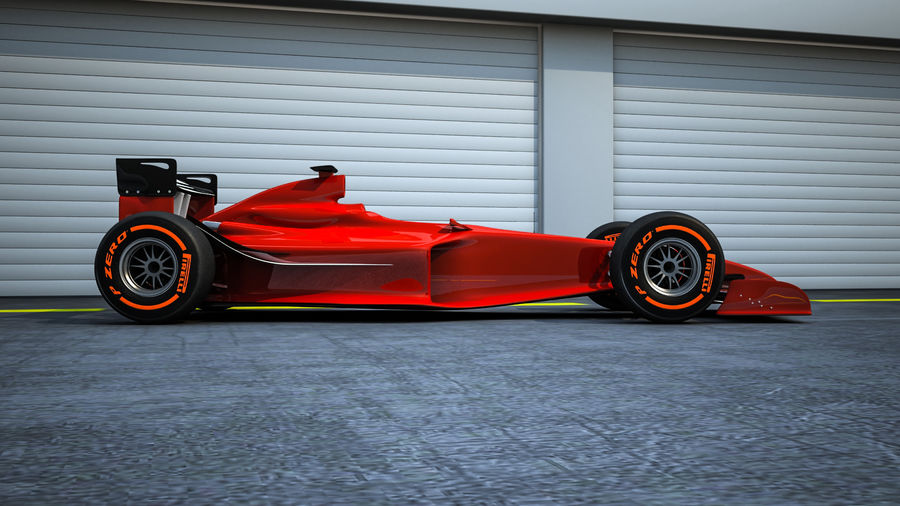 Formel 1 royalty-free 3d model - Preview no. 3