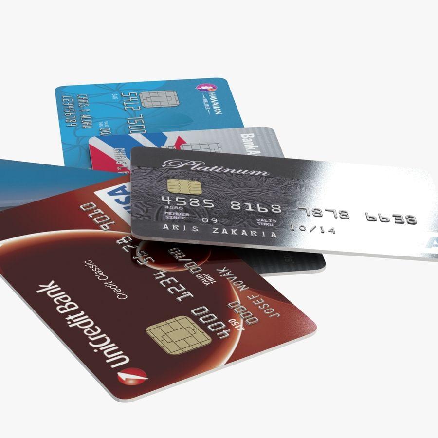 Kredietkaarten royalty-free 3d model - Preview no. 9
