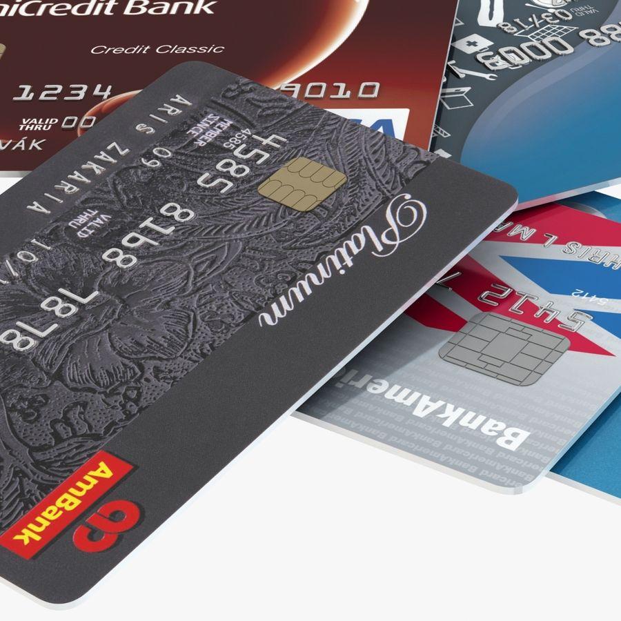 Kredietkaarten royalty-free 3d model - Preview no. 12