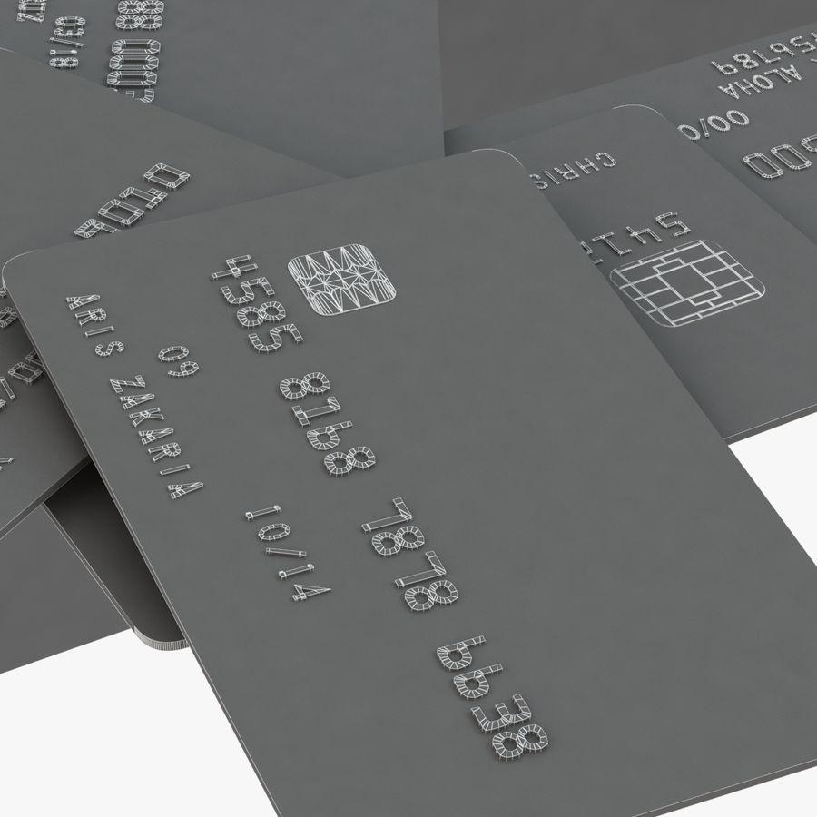Kredietkaarten royalty-free 3d model - Preview no. 7