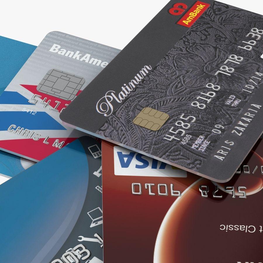 Kredietkaarten royalty-free 3d model - Preview no. 10