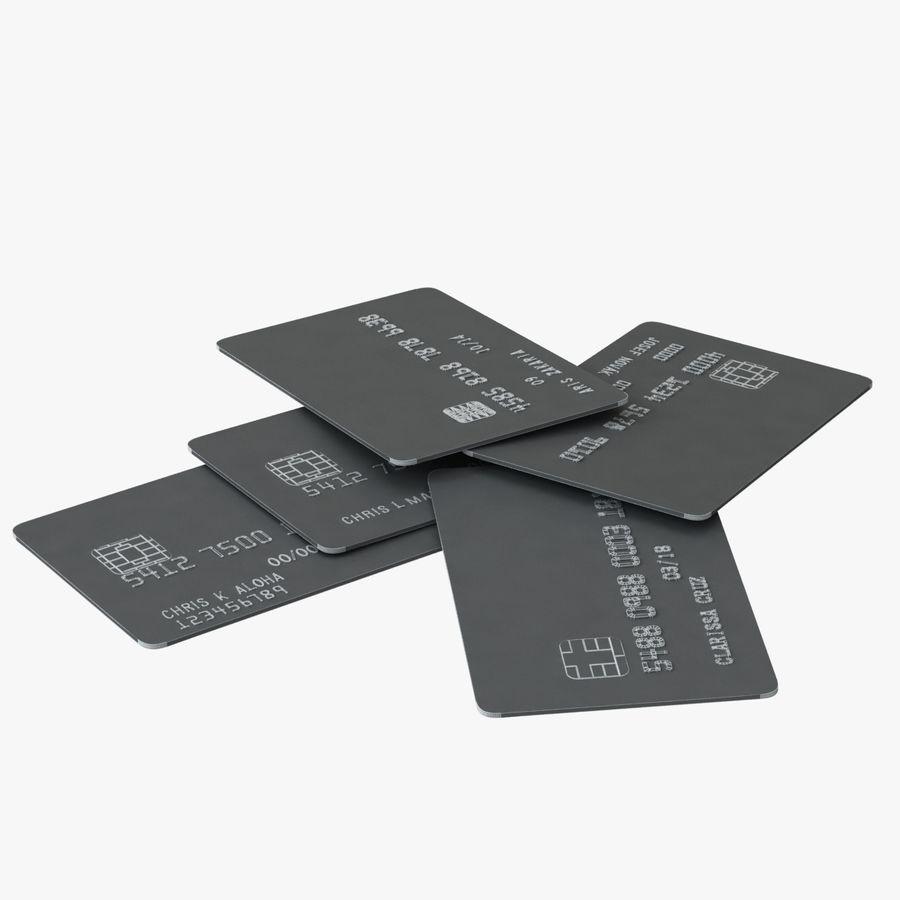Kredietkaarten royalty-free 3d model - Preview no. 3