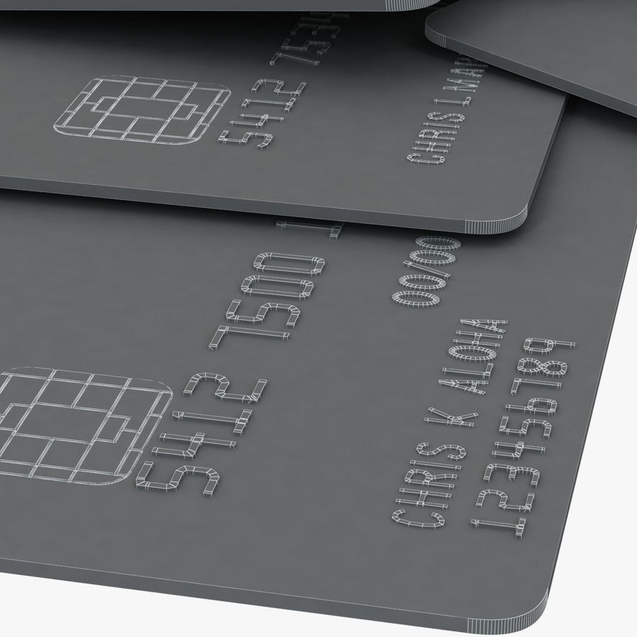 Kredietkaarten royalty-free 3d model - Preview no. 6