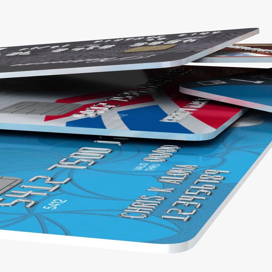 Kredietkaarten royalty-free 3d model - Preview no. 11