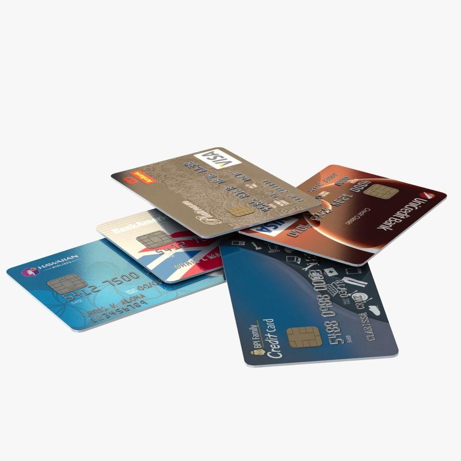 Kredietkaarten royalty-free 3d model - Preview no. 1